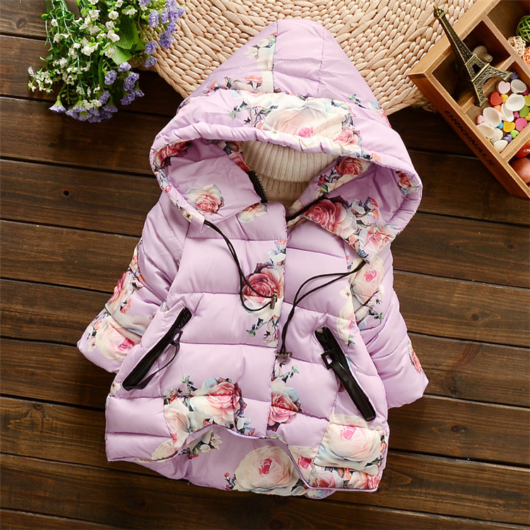 2016 new winter autumn baby girls clothing cotton coat for children thickening warm newborn jacket flower girls hooded coat baby yingzifang new autumn winter baby coat boys girls cotton cute bear hooded coat casual kids jacket children clothing sports suit