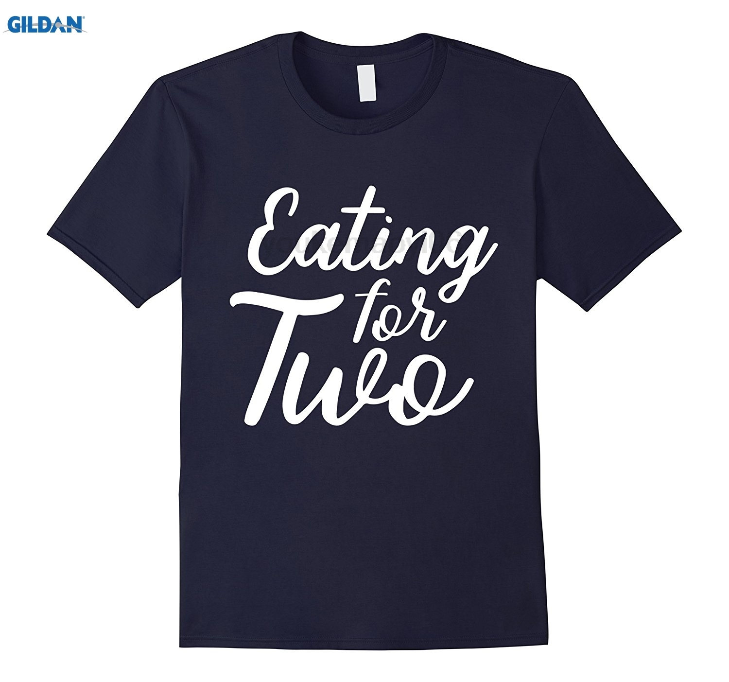 GILDAN Eating For Two Maternity Pregnancy Baby Announcement T-Shirt