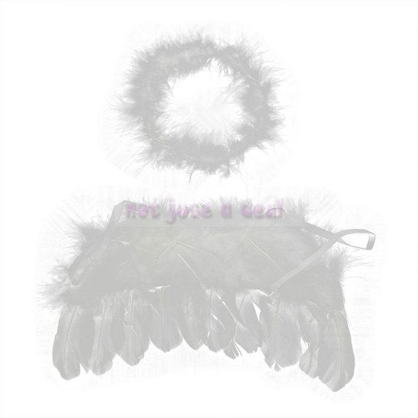 Fashion Lovely Infant Newborn Baby Kids Angel Fairy Feather Wing Photo Props Costume Stage Equipment