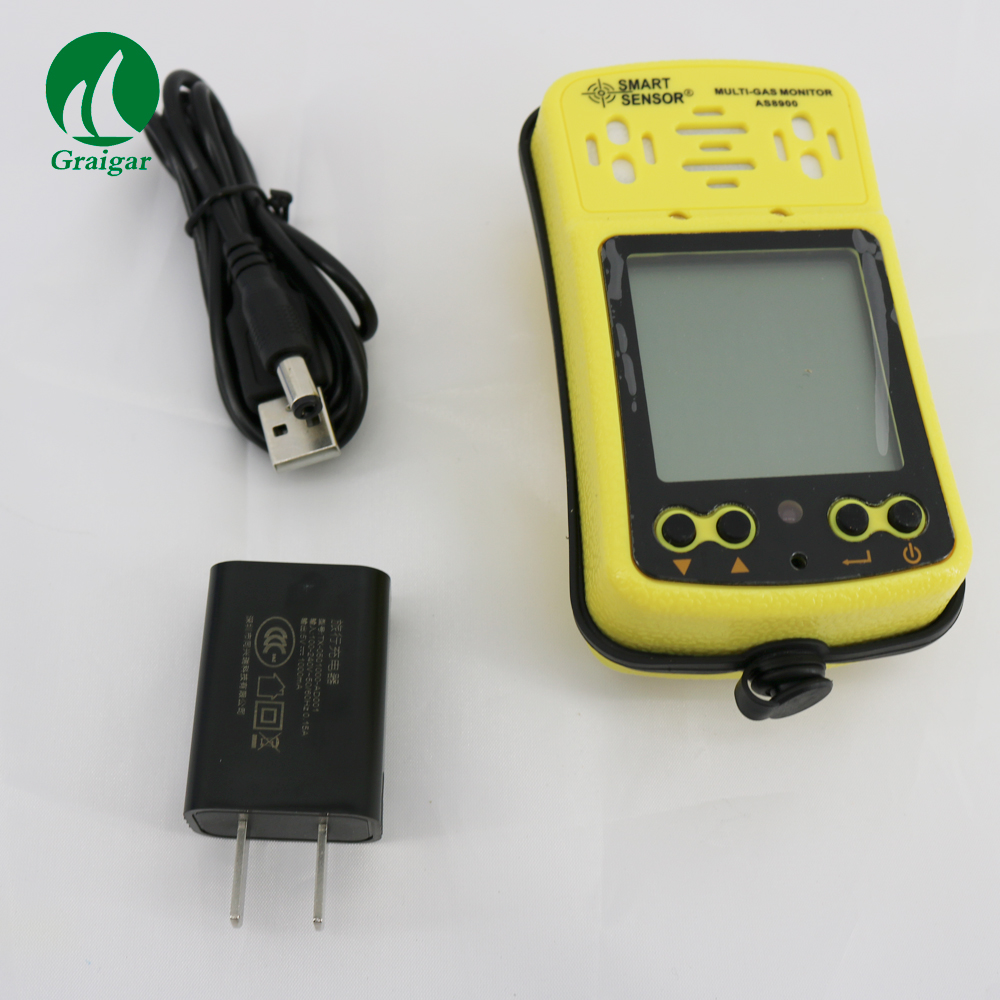 4 in 1 Handheld gas detector Oxygen O2 Hydrothion H2S Carbon Monoxide CO Combustible Gas gas analyzer Smart Sensor AS8900