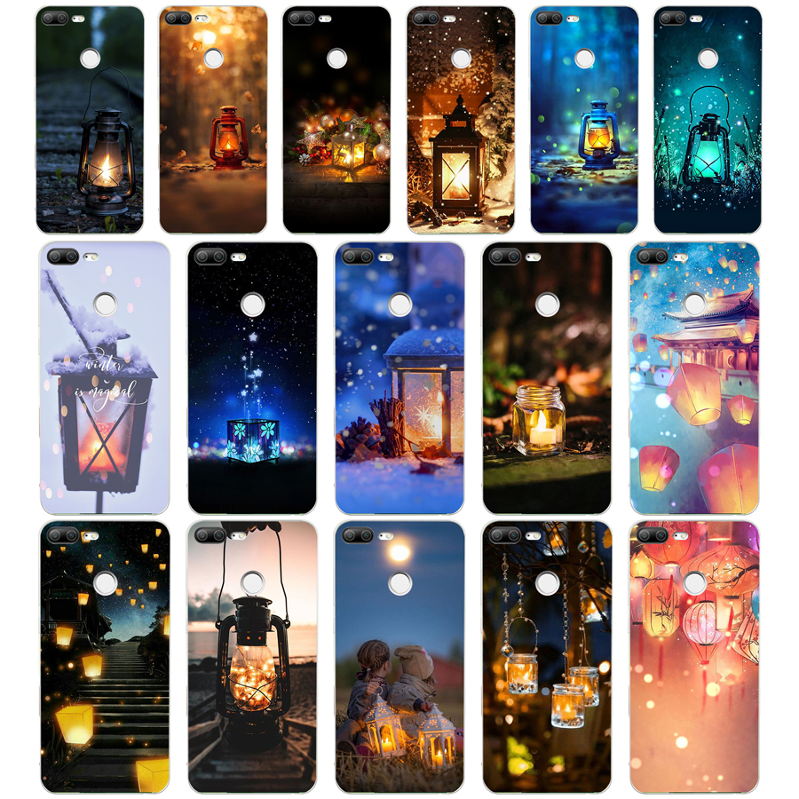 Aggressive 328we The Oil Lamp Lanterns Soft Silicone Tpu Cover Phone Case For Huawei Honor 8 9 Lite 8x P 8 9 Lite 2017 Soft And Antislippery Half-wrapped Case