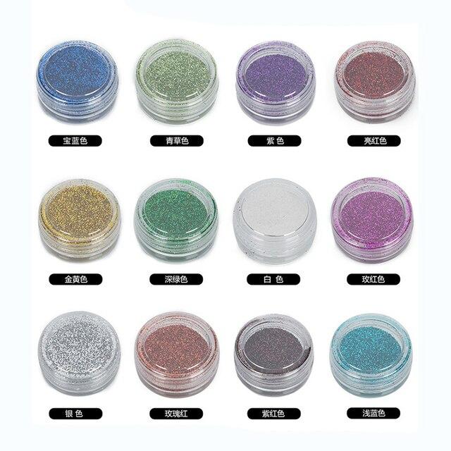 1 Doos Langdurige Glitter Oogschaduw Poeder Pigment Nail Art Decoratie Glitter Poeder Pigment Minerale Spangle Make Cosmetische