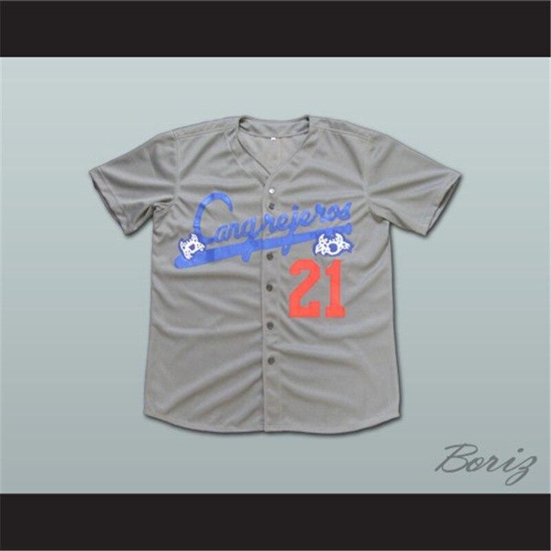 buy popular 87956 fd02a Roberto Clemente 21 Santurce Cargrejeros Crabbers Puerto Rico Baseball  Jersey-in Baseball Jerseys from Sports & Entertainment on Aliexpress.com |  ...