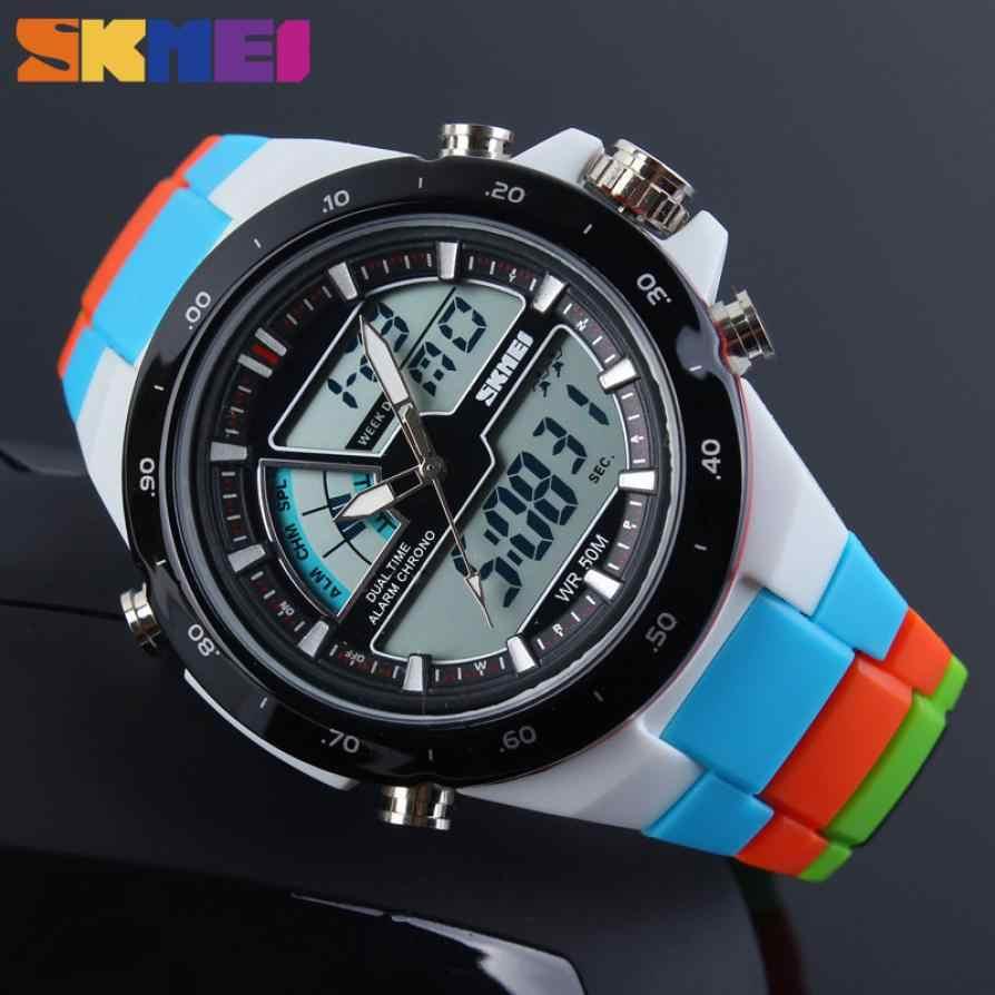 SKMEI mode Simple Sport montre hommes montre 5Bar étanche en plein air montres double affichage numérique hommes montre Relogio Masculi