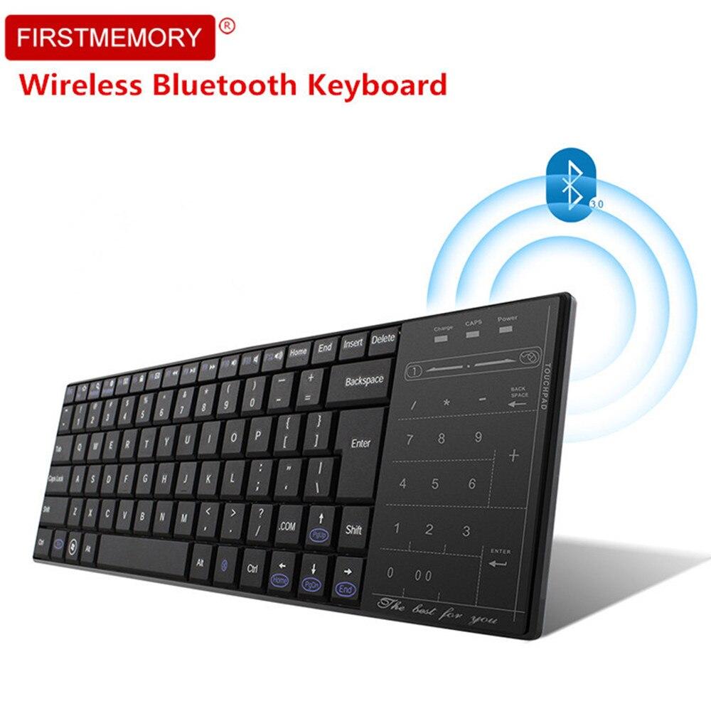 Bluetooth 3.0 clavier sans fil pavé tactile souris Ultra mince Mini tablette tactile clavier de jeu pour PC portable ordinateur portable Smart TV teclado