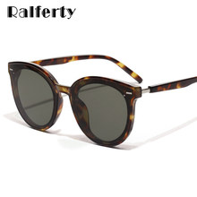 Ralferty Korea Sunglasses Women Men luxury Brand Oversize Sun Glasses Black UV400 Points 2019 lunette Shades For Women W181204(China)