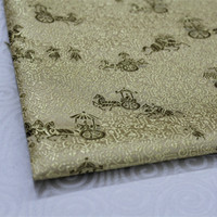 CF146 1Yard 73cm Golden The Ancient Carriage Silk Fabric Chinese Style Brocade Jacquard Fabric For Men