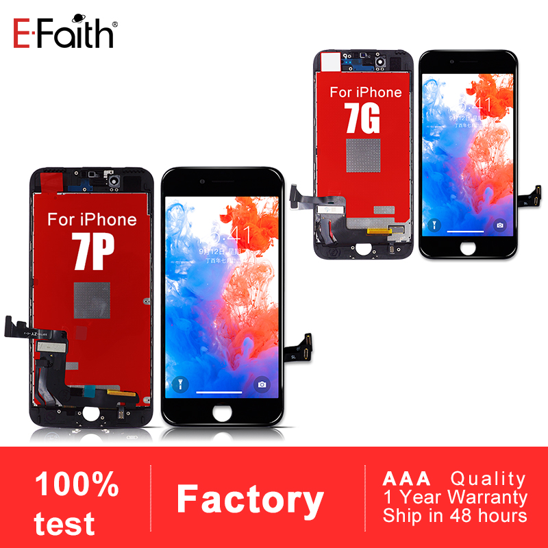 10 pcs EFaith AAA Grade LCD or Display For iPhone 7 7 Plus with Touch Screen