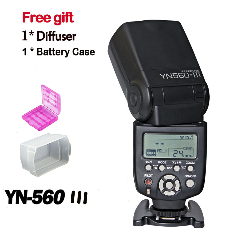 New Yongnuo YN560 III YN-560III wireless Flash Speedlite with LCD Screen YN-560II Upgrade Flash for Nikon Canon Pentax Camera 2017 new meike mk 930 ii flash speedlight speedlite for canon 6d eos 5d 5d2 5d mark iii ii as yongnuo yn 560 yn560 ii yn560ii