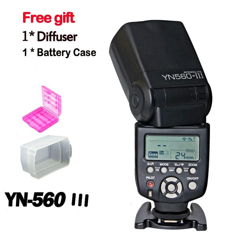 New Yongnuo YN560 III YN-560III wireless Flash Speedlite with LCD Screen YN-560II Upgrade Flash for Nikon Canon Pentax Camera 3pcs yongnuo yn560 iv flash speedlite speedlight for canon nikon pentax olympus panasonic wireless support rf602 rf603 rf605