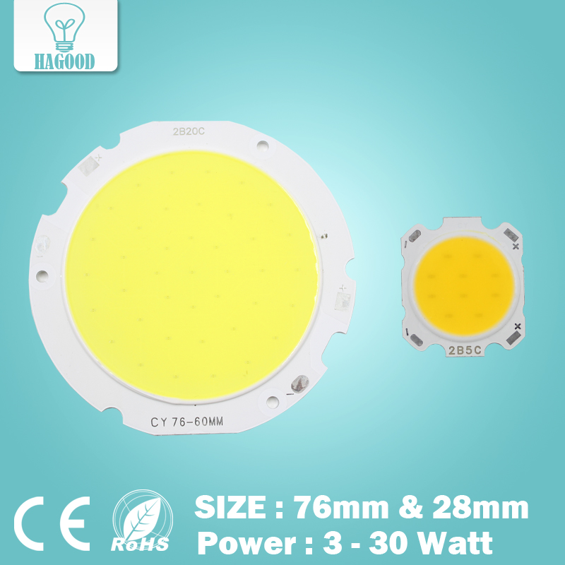 Free shipping 3W 5W 7W 10W 12W 15W 20W 25W 30W COB led chip diodes surface light for led bulb spotlight street led lamp free shipping to oceania solar charged 10w led spotlight human body induction led wall light for public parks