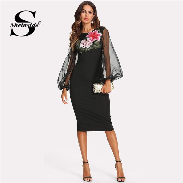 Kleid schwarz lang h&m - Modische Damenkleider