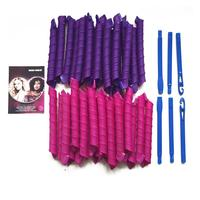 40pcs 55cm DIY Hair Magic Curler Long Spiral Curls Top Up Pack With 5pcs Curling Rod