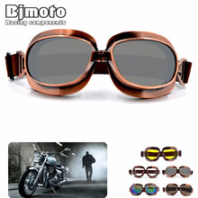 Bjmoto Moto Pilot Goggles Jet Retro Motorcycle goggles glasses goggle for Harley motorcross sport