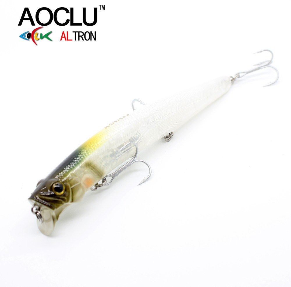 AOCLU Jerkbait lures wobblers 13cm 21g Hard Bait Minnow Crank fishing lure With Magnet Bass Fresh 4# VMC hooks 6 colors