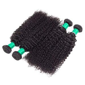 Image 5 - Extensiones de cabello humano malayo, mechones rizados, Color Natural, tejido de pelo rizado, envío gratis