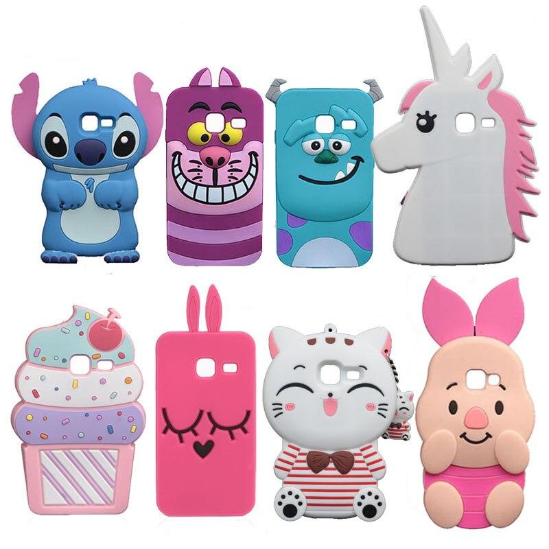 J1 Mini Cute Stitch Soft Case For Samsung Galaxy J1 Mini J105 J105H J105F/ J1 Nxt Duos Minnie Horse Pig Sulley Minions Cat Cover Солдат