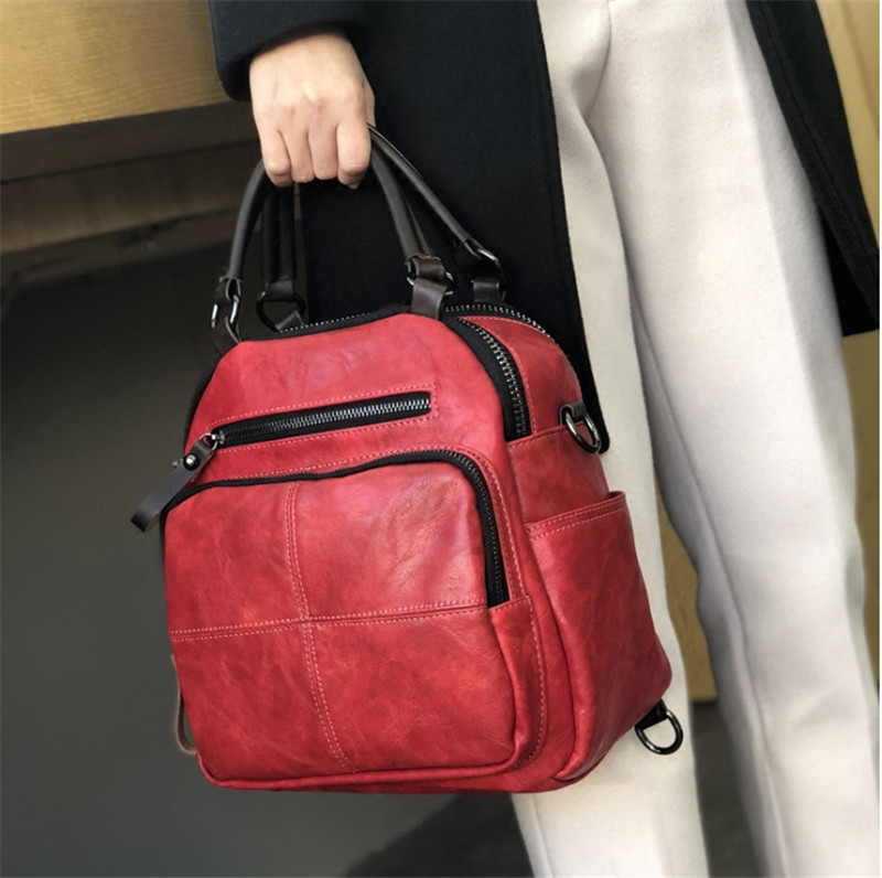 Women s handbags 2018 spring and summer new products retro simple fashion dual use shoulder bag