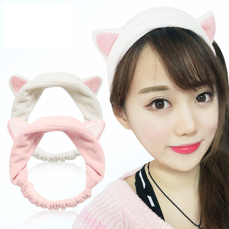1 Pc Hot Sale Cute Womens Lady Girl Elastic Grail Cat Ears Headdress Hair Braiders Accessories Party Gift Braiders