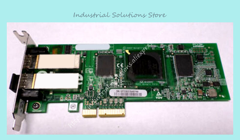 QLE2462-SUN PCI-E dual port 4GB card 375-3356 SG-XPCIE2FC-QF4 fiber 100% tested perfect quality sg xpci1fc em4 375 3398 01 4gb pcix hba 1 year warranty