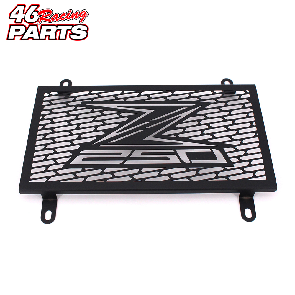 Black Motorcycle Accessories Radiator Guard Protector Grille Grill Cover For KAWASAKI Z250 2013 2014 2015 2016 Free shipping motorcycle radiator protective cover grill guard grille protector for kawasaki z750 z1000 2007 2008 2009 2010 2011 2012 2016