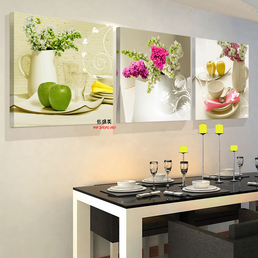 3 Pcs nordic Kitchen restaurant fruit murals modula canvas pictures for living room no game no life Oil painting on canvas 061