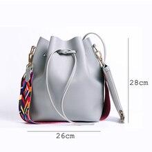 DAUNAVIA Fashion Colorful Strap Bucket Bag