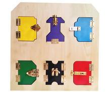 Новые деревянные детские игрушки Монтессори упражнения разблокировка