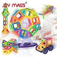 RADOŚĆ MAG Projektant Magnetyczny Blok 89/102/149 sztuk Modele Budynków Zabawki Zabawki Edukacyjne Oświecić Plastikowe Do Sklejania dla Małych Dzieci