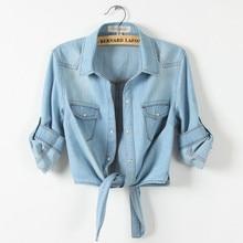 Vintage Denim Jacket Women Basic Coats 2018 Slim Short mujer Jackets Female Coat Casual Ladies Outwear Jeans feminina