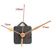 High Quality New Gold Hands Quartz Black Wall Clock Movement Mechanism Repair Parts Silent Furniture Bolt