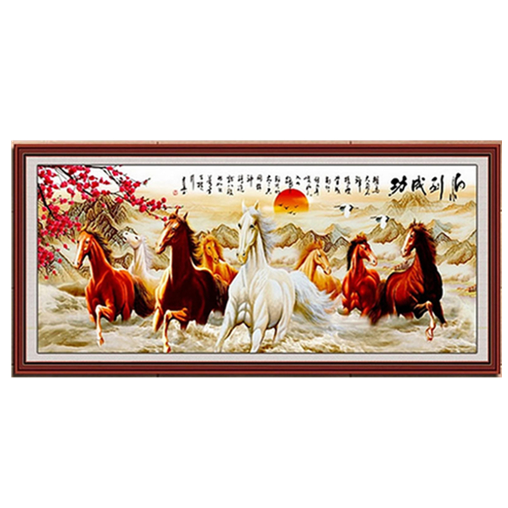 DIY 5D Horses Embroidery Diamond Painting Cross Stitch Kits Home Decor Crafts W215