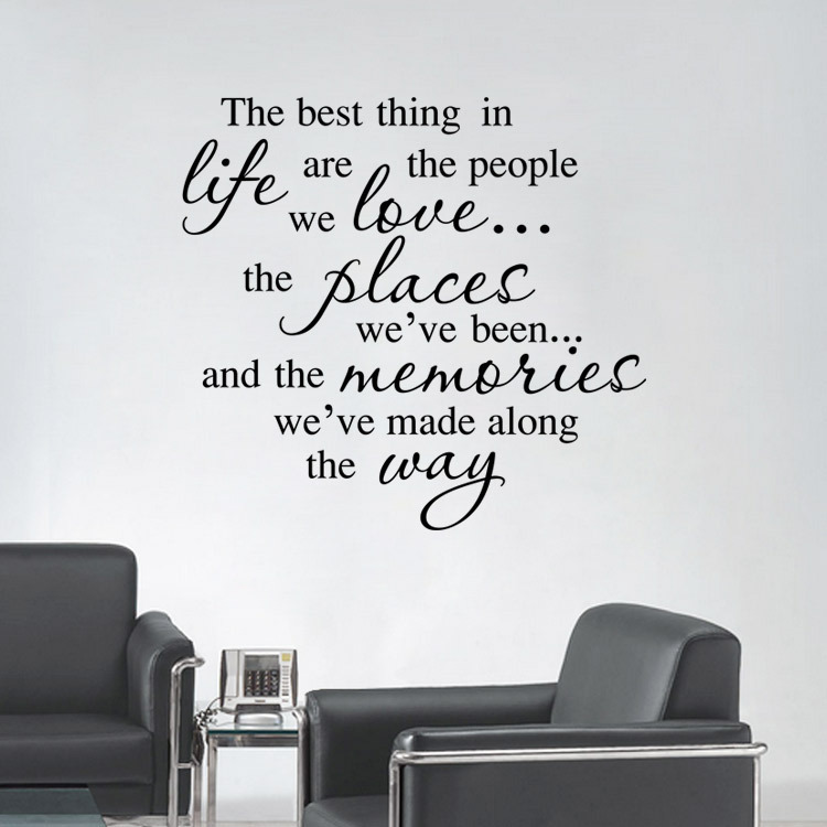Best Thing In Life Are The People We Love Quote Home Decor