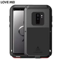 Love Mei Life Waterproof Metal Aluminum Armor Hard Case For Samsung Galaxy S9 S9 Plus Cover