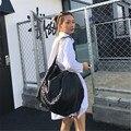 Мода Европейский Американский Стиль Черный Леди Большой Леди Одноместный Сумки На Ремне Контракту Сеть Crossbody Сумка Бренд Женской Сумка A002