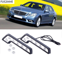 Free Shipping 6 LED MERCEDES L Shape DRL Daytime Running Lights Kit Lamp Fog Front Light   free shipping iphcar waterproof dual color special outside led daytime running lights for 2013 cr v