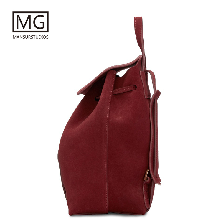Mansurstudios Women Faux Suede Backpacks  ,lady Leather Suede Backpacks ,suede School Bag,free Shipping