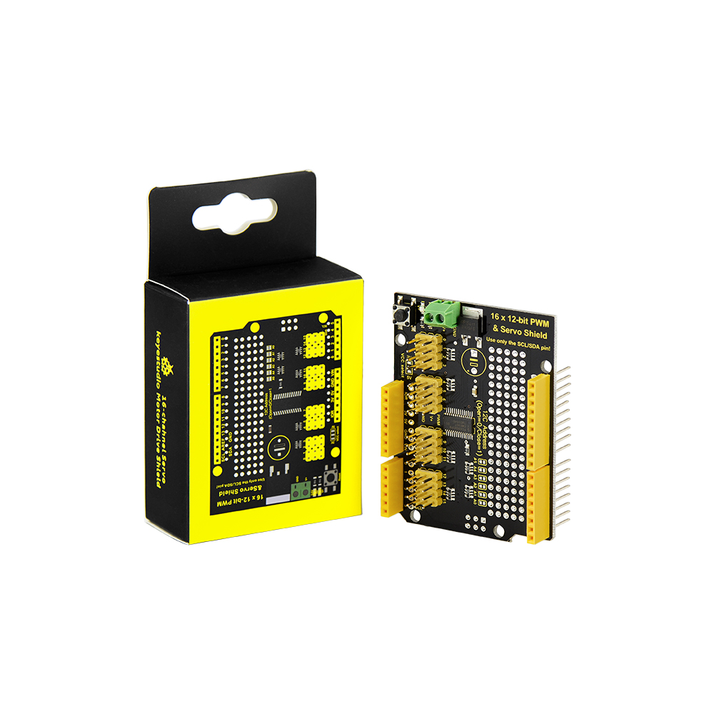 Keyestudio PCA9685 16-Channel Servo Motor Drive Shield I2C For Arduino  Robot Raspberry Pi