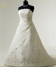 Bealegantom 2019 New Sexy Sweetheart Embroidery Wedding Dresses Beaded Lace Up Bridal Gowns Vestido De Novia QA1472