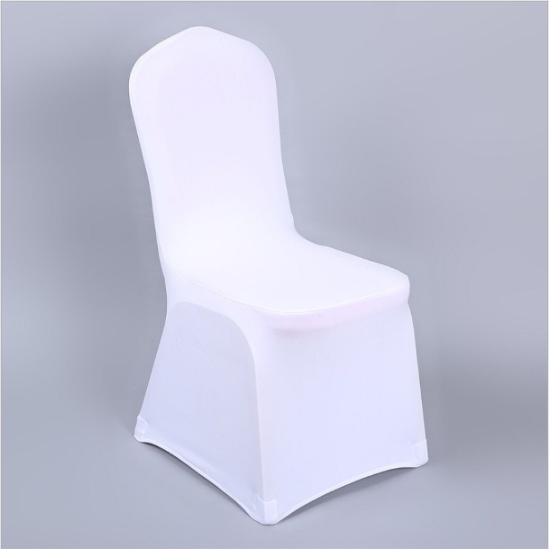 Marious Brand 5 25 30 pcs Universal White Stretch Spandex Chair Cover Lycra Wedding Party Banquet Hotel Dining Chair Cover