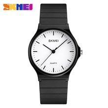 лучшая цена SKMEI Top Brand Fashion Womens Watch 30m Waterproof Quartz Watch Round Dial Business Casual Watch Models Relogio Watches