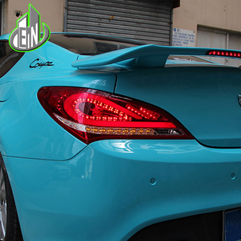 EN Car Styling 2009-2012 For Hyundai Rohens Coupe Tail Lights  Coupe LED Tail Light Rear Lamp DRL+Brake+Park+Signal akd car styling for hyundai santa fe led tail lights 2007 2013 new santa tail light rear lamp drl brake park signal
