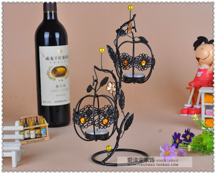 Fashion lantern tieyi mousse vintage hanging mousse at both ends new house decoration candle 9