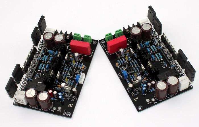 DC12V 200W*2 amplifier board DARTZEEL No feedback amplifier board Original TT1943 / TT5200 op MJE15034 MJE15035 amplifier board imitate dartzeel amplifier board