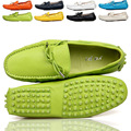 EU 38 - 44 Fashion genuine Cozy Leather Tie Casual SLIP-ON loafers CAR Shoes penny loafers men Moccasins