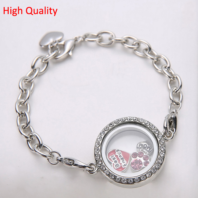 10pcs Lot Free Shipping 25mm Openable Magnet Photo Memory Gl Locket Bracelet Living Floating In Charm Bracelets From Jewelry