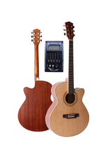 40″ Cutaway Acoustic Guitar,Spruce Top/Mahogany Body guitarra eletrica With LCD Pickup, guitars china With Hard case