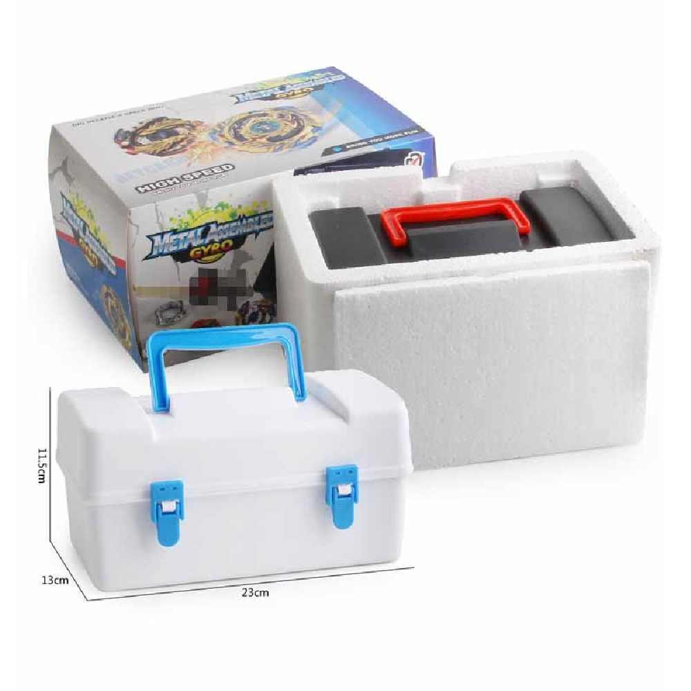 トップベイブレードバーストベイ刃おもちゃ金属 Funsion Bayblade セット収納ボックスハンドルランチャープラスチックボックスおもちゃ子供