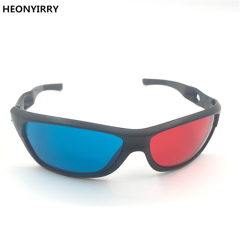 HEONYIRRY New Black Frame Red Blue 3D Glasses For Dimensional Anaglyph Movie Game DVD Video TV Red Blue 3D Glasses