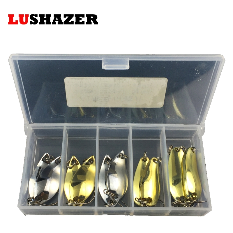12pcs/lot Fishing lure spoon 2.5g 3.5g 5g metal jig baits ice fishing tackles isca artificial lures China carp spoon box bait goture ice fishing baits metal jig drop jig grub spoon 0 6 6 2g hard artificial bait carp fishing accessories lure box 40pcs